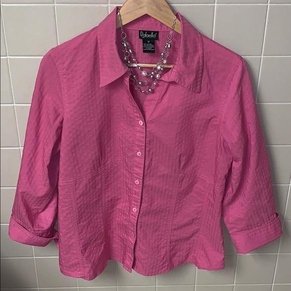 Rafaella Tops - Pink size 12 gently worn dress shirt